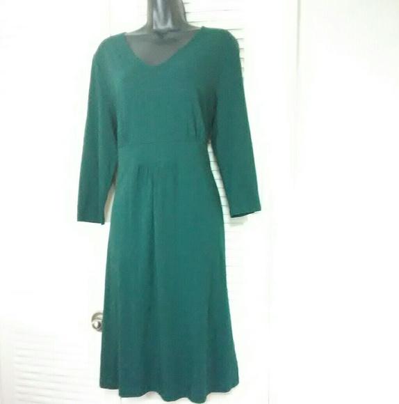 Land\'s End plus size (14-16) Large green dress